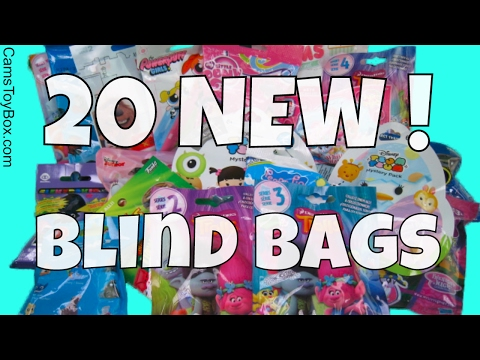 20 New Blind Bags Surprise Trolls Series 3 4 Disney Tsum Num Noms Light Ups Finding Dory Peppa Pig
