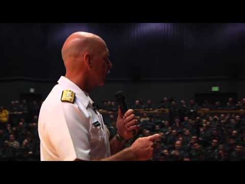 U.S. Pacific Fleet Commander hosts an All Hands Call and Townhall meeting at Yokosuka Naval Base