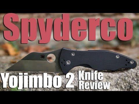 Review: Spyderco Yojimbo 2 Pocket Knife CPS S30V Steel, Compression Lock, Jokes