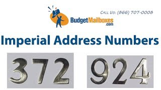Budget Mailboxes Imperial Address Numbers