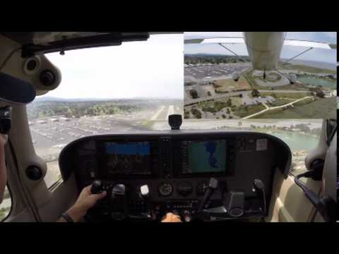 Cessna 172 Learning to Land in the Center of the Runway