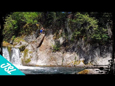 Naked Falls Cliff Jumping - PNW Adventure