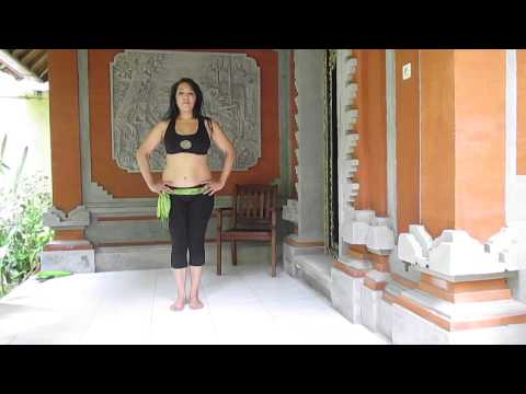 Free online Belly dance workout/ class  Bali, Indonesia (Class #2 of 8)  song: Gana el Hawa