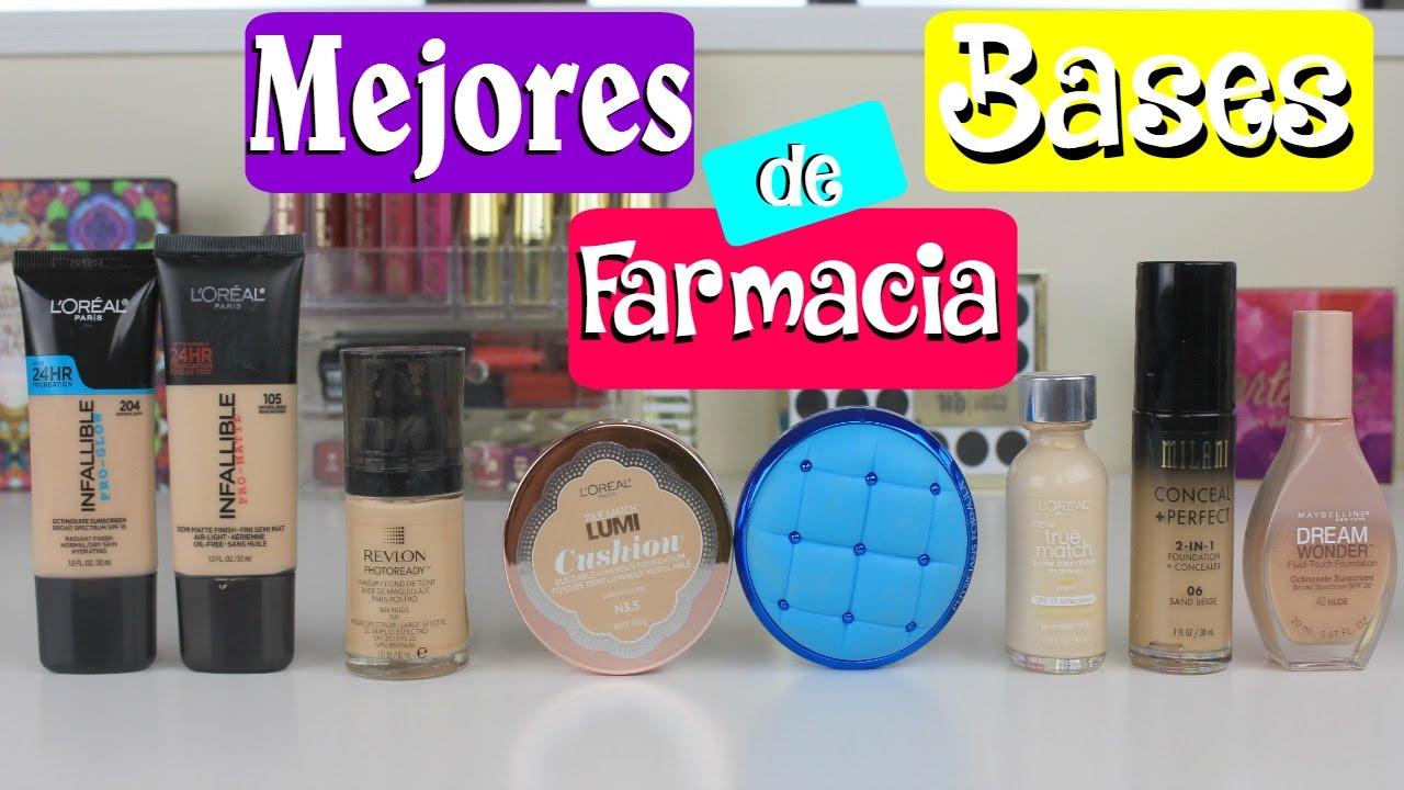 bases de maquillaje de farmacia