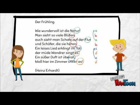 Gedichte Formale Merkmale Benennen 22 Klasse 5