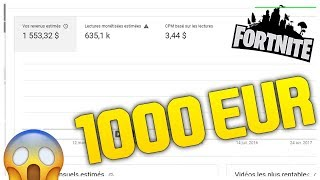 J'AI GAGNER 1000€ GRACE A FORTNITE SAUVER LE MONDE