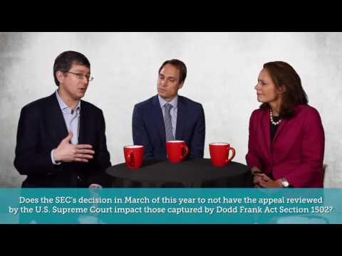 Conflict Mineral Experts' Panel: The SEC Ruling and Its Impact