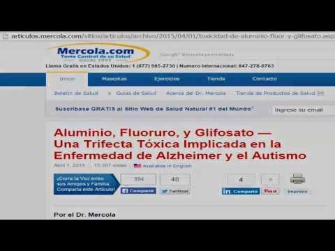 ¿Aluminio, flúor y glifosato producen Alzheimer y autismo? Mira lo que la ciencia responde.