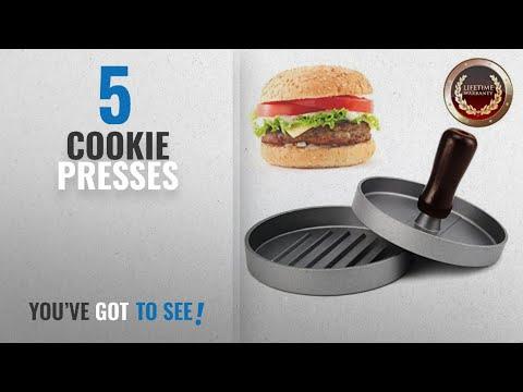 Top 10 Cookie Presses [2018]: Burger Press, Allezola Hamburger Patty Maker, Non Stick Patty Mould,