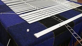 Trimming and installing aluminium window blinds