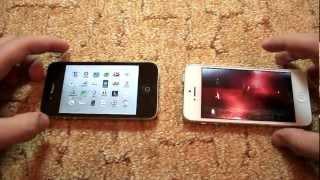 видео iPhone 5 vs iPhone 4s - скорость и многозадачность