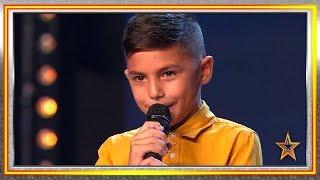 Con 9 años, tiene VOZ PRIVILEGIADA y el PASE de ORO de Paz | Audiciones 6 | Got Talent España 2019