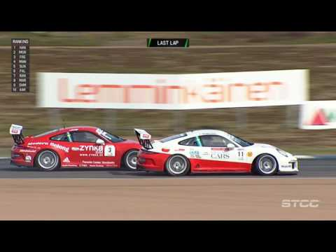Porsche Carrera Cup Scandinavia 2017. Race 2 Alastaro Circuit Motorsport Center. Last Lap