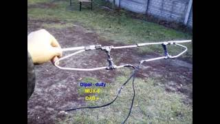 antena dipol dla mux 8 opticum ax1000 przerobiona na combo vhf uhf mux8 radio dab