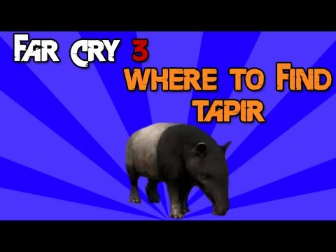 Far Cry 3 Where To Find Tapir Tutorial Youtube