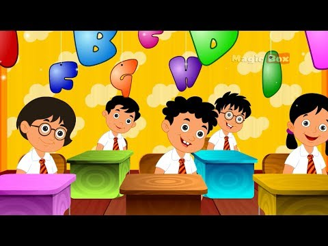 The Alphabet Song - English Nursery Rhymes - Cartoon And Animated Rhymes