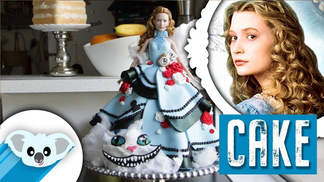 Alice In Wonderland Doll Cake Through The Looking Glass