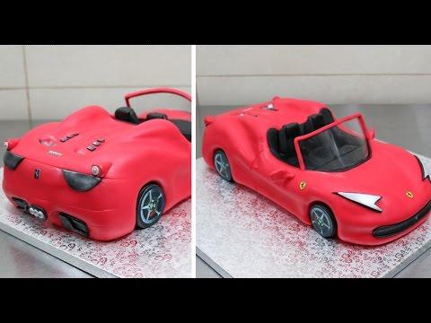 How To Make A 3d Ferrari Cake By Cakesstepbystep Youtube