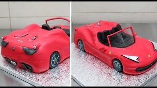 How To Make a 3D Ferrari Cake by CakesStepbyStep