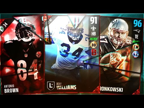 BEST TEAM EVER! RICKY WILLIAMS! MUT MASTER GRONKOWSKI! RAREST CARD IN THE GAME ANTONIO BROWN! MUT 17