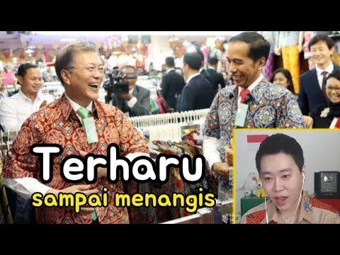 Orang Korea Menangis Melihat Persahabatan Presiden Korsel dan  Indonesia