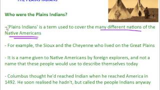 American West - The Plains Indians - The Great Plains