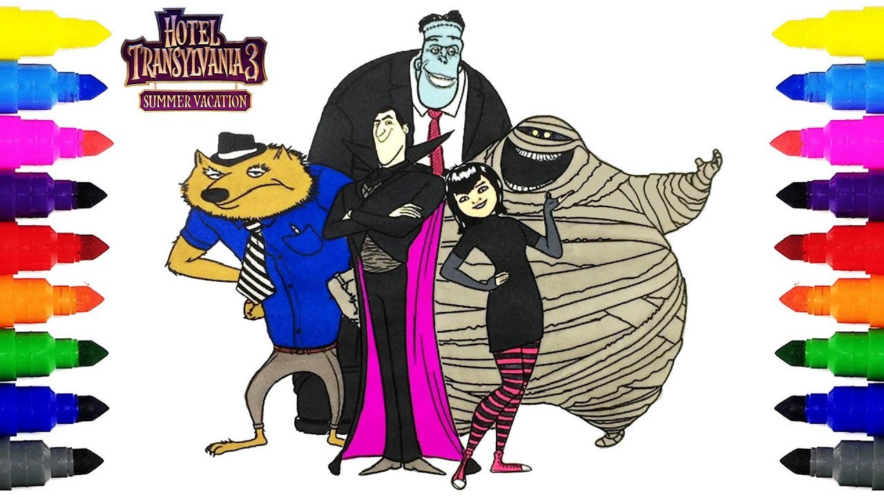Hotel Transylvania 3 Coloring Pages For Kids