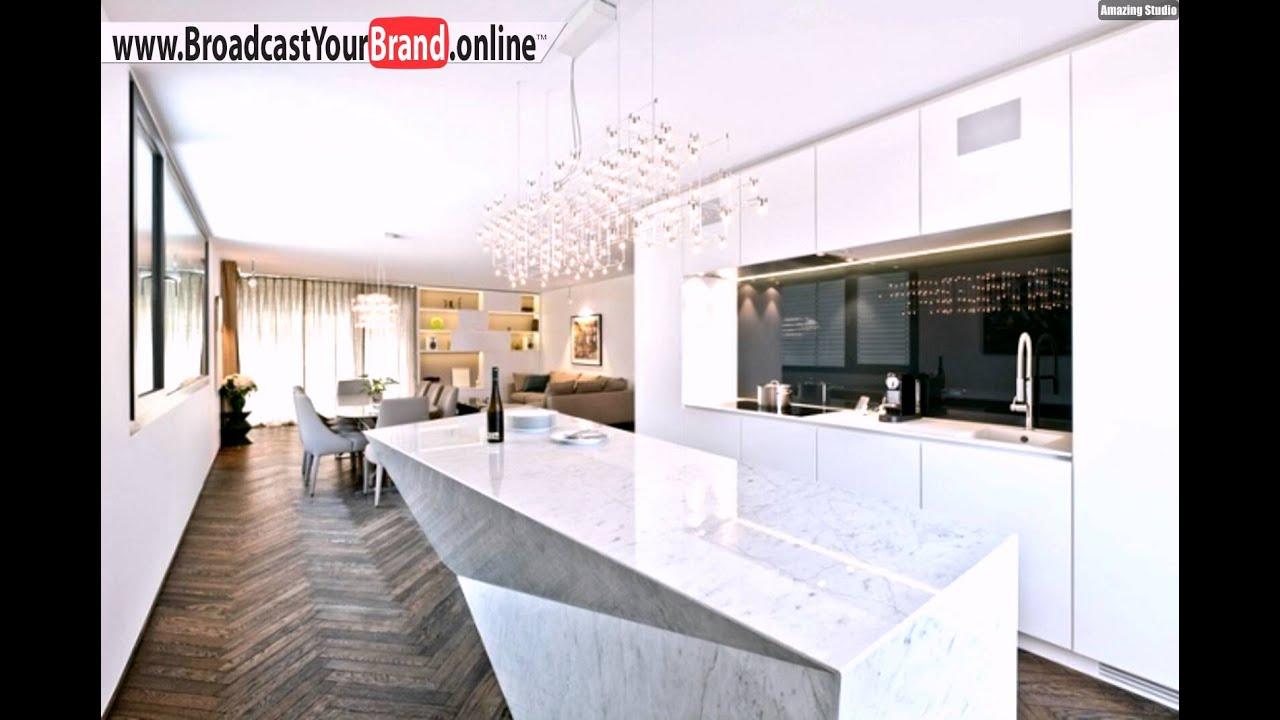 Esszimmer Weiß Grau Wohnideen Küche Modern Weiß Hochglanz Marmor Kochinsel .