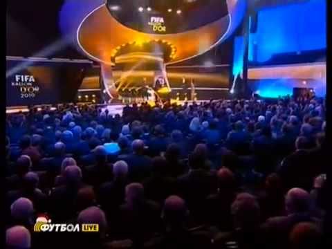 Lionel Messi wins Fifa Ballon d'Or award  Golden Ball  2010