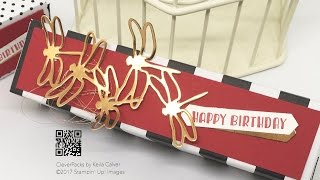 sweet dragonfly chocolate box with stampin up sale a bration