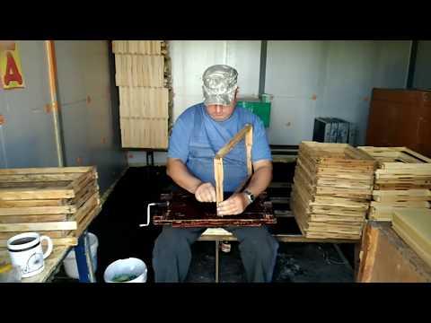 Работа с рамками оснащение и натягивание проволоки