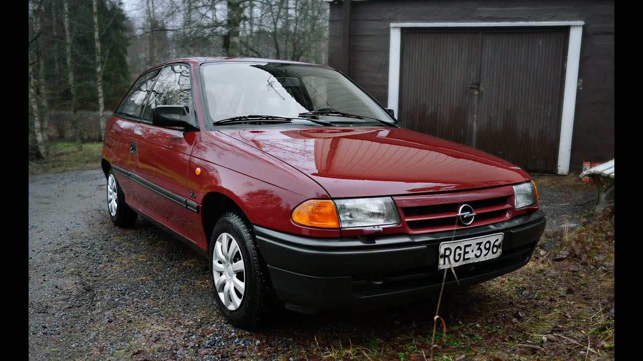 1994 Opel Astra Gl 1 6 Si Review Engine Starting Driving In Finland Youtube