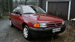 1994 Opel Astra GL 1.6 Si Review: Engine starting & driving in Finland!