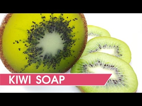 How to make kiwi soap - DIY Soap making