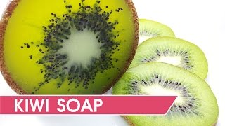 How to make kiwi soap - DIY Soap making