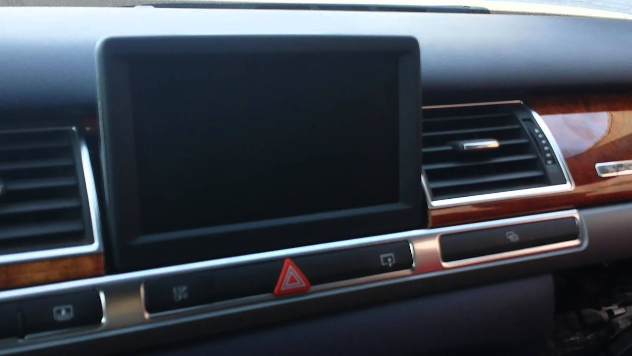 how to troubleshoot mmi audio navigation of audi a8 for repair  [ 1280 x 720 Pixel ]