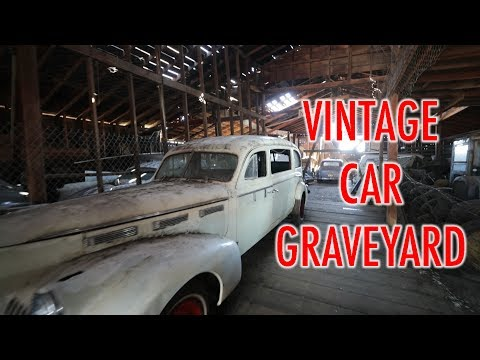 CAR GRAVEYARD LEFT IN GHOST TOWN - OREGON