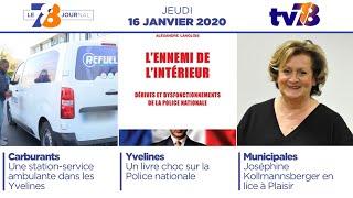 7/8 Le Journal. Edition du jeudi 16 janvier 2020