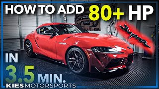 How to flash a Supra with BM3 to gain 80+ Horsepower! (A90 MKV 2020 Supra BootMod3 Flash tune!)