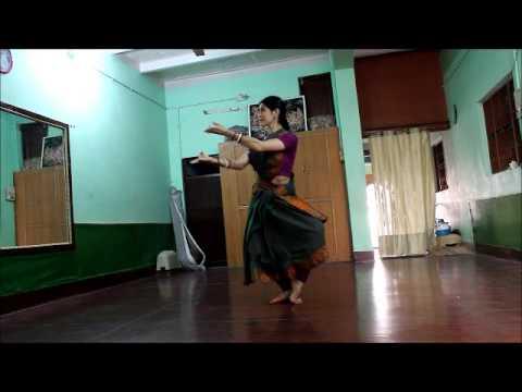 Odissi Practice. Anandini Dasi. Vrindavan.