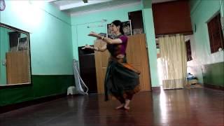 Gambar cover Odissi practice. Anandini Dasi. Vrindavan.