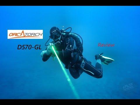 LASER Dive Light!!!    REVIEW | Orcatorch D570-GL