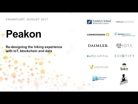 Peakon - Re-designing the hiking experience with IoT, blockchain and data