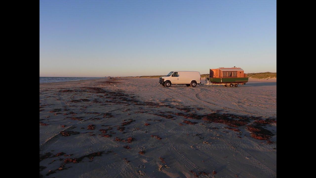 Tiny houseboat arrives in port aransas texas at last for Port a texas