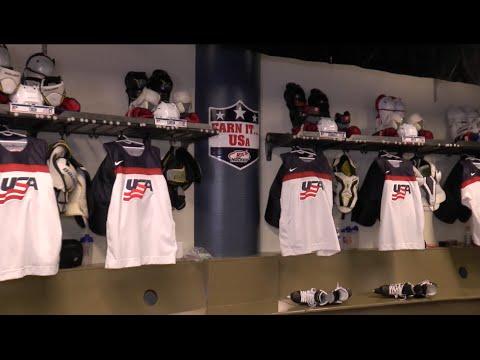 Team USA Locker Room Tour - Bell Centre - 2015 World Junior Championship