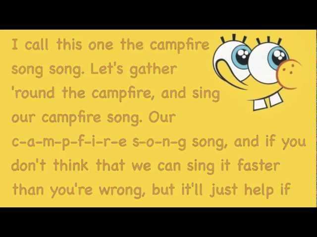 The Campfire Song Song- Spongebob Squarepants Chords - Chordify