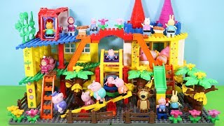Peppa Pig Building Blocks House Toys For Kids - Lego Duplo House With Water Slide Creations Toys #8