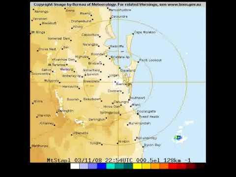 Brisbane Weather Radar Single Day 2008-11-04