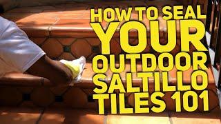 How Do You Seal Outdoor Saltillo Tile for depth color & Protection | Mexican Tile Sealer 101