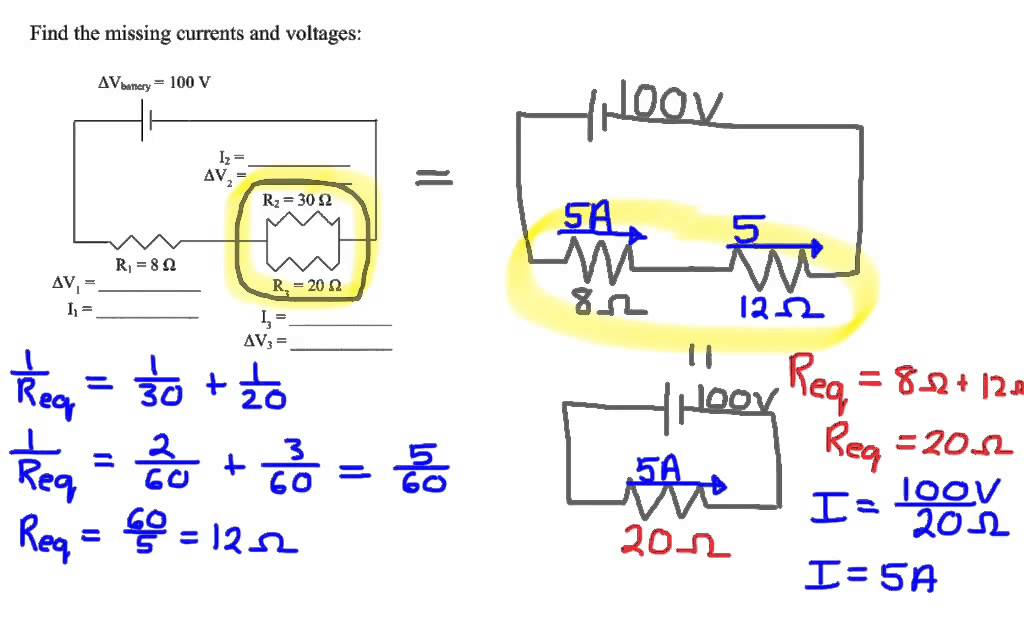 Total Resistance In A Parallel Circuit Examples